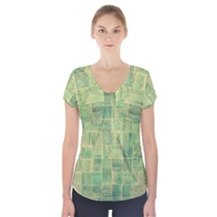 Abstract 1846980 960 720 Short Sleeve Front Detail Top