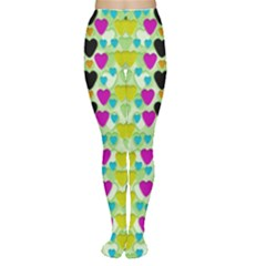 Summer Time In Lovely Hearts Women s Tights