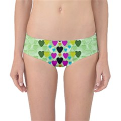 Summer Time In Lovely Hearts Classic Bikini Bottoms