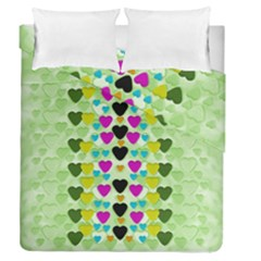 Summer Time In Lovely Hearts Duvet Cover Double Side (queen Size)