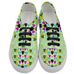 Summer Time In Lovely Hearts Women s Classic Low Top Sneakers