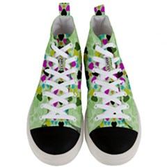 Summer Time In Lovely Hearts Men s Mid Top Canvas Sneakers