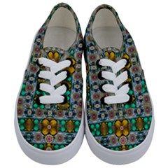 Rainbow Flowers And Decorative Peace Kids  Classic Low Top Sneakers