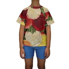Flowers 1776429 1920 Kids  Short Sleeve Swimwear