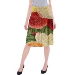 Flowers 1776429 1920 Midi Beach Skirt