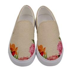 Flower 1646035 1920 Women s Canvas Slip Ons