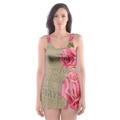 Flower 1646069 1920 Skater Dress Swimsuit
