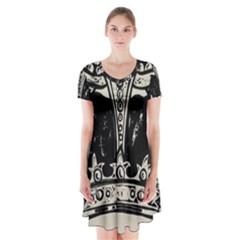 Crown 1515871 1280 Short Sleeve V Neck Flare Dress