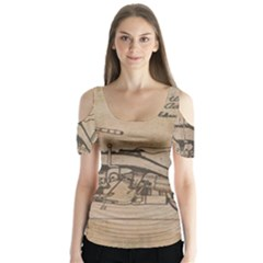 Motorcycle 1515873 1280 Butterfly Sleeve Cutout Tee