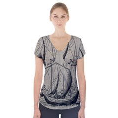 Ship 1515875 1280 Short Sleeve Front Detail Top