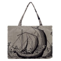 Ship 1515875 1280 Zipper Medium Tote Bag