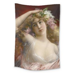 Victorian Lady In Pink Large Tapestry