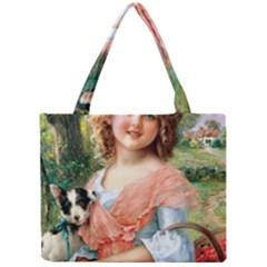Girl With Dog Mini Tote Bag