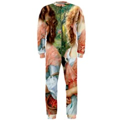 Girl With Dog Onepiece Jumpsuit (men)