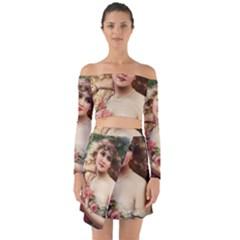 Vintage 1501576 1280 Off Shoulder Top With Skirt Set