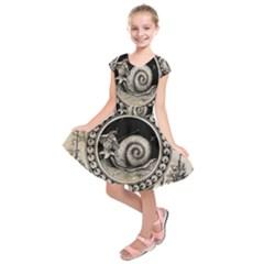 Snail 1618209 1280 Kids  Short Sleeve Dress