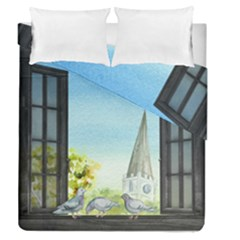 Town 1660455 1920 Duvet Cover Double Side (queen Size)