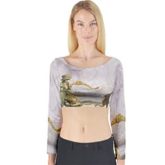Background 1659612 1920 Long Sleeve Crop Top
