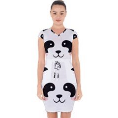 Panda  Capsleeve Drawstring Dress