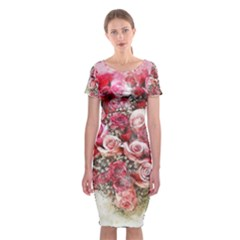 Flowers 2548756 1920 Classic Short Sleeve Midi Dress