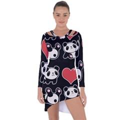 Panda Asymmetric Cut Out Shift Dress