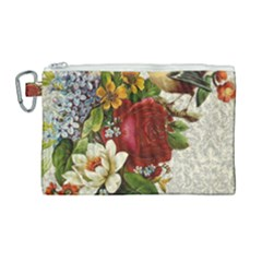 Flower Bird Canvas Cosmetic Bag (large)