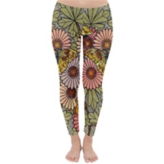 Flower And Butterfly Classic Winter Leggings
