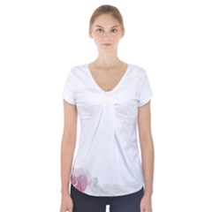 Background 1362163 1920 Short Sleeve Front Detail Top
