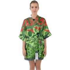 Turtle Quarter Sleeve Kimono Robe