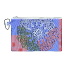 Pink Houses Canvas Cosmetic Bag (large)