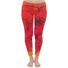 Flower Classic Winter Leggings