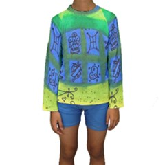 Window Egg Kids  Long Sleeve Swimwear