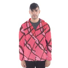 Red Fan Hooded Wind Breaker (men)