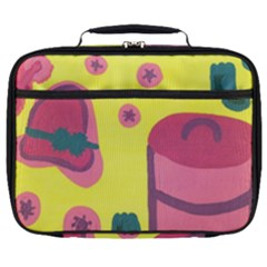 Candy Pink Hat Full Print Lunch Bag
