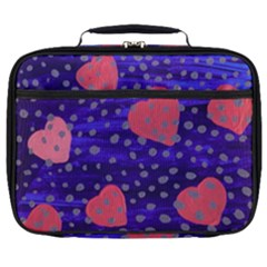 Underwater Pink Hearts Full Print Lunch Bag