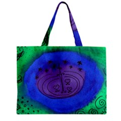 Starry Egg Zipper Mini Tote Bag