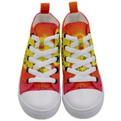 Red Sun Kid s Mid Top Canvas Sneakers