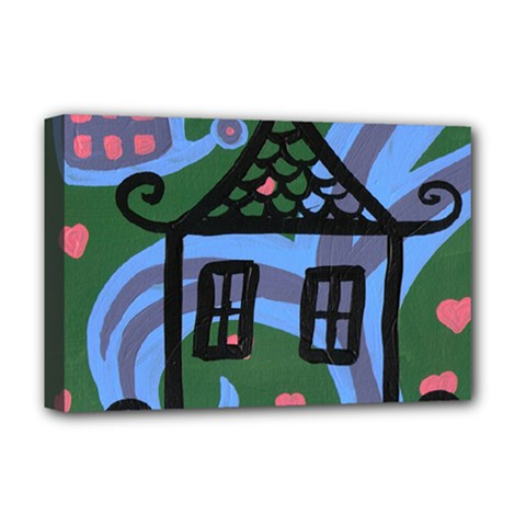 Smiling House Deluxe Canvas 18  X 12