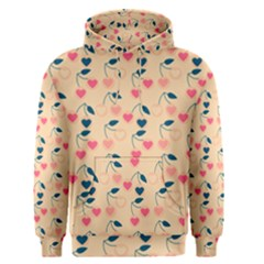 Heart Cherries Cream Men s Pullover Hoodie