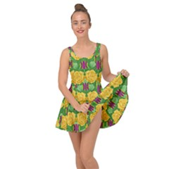 Roses Dancing On  Tulip Fields Forever Inside Out Dress
