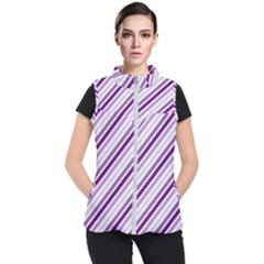 Violet Stripes Women s Puffer Vest
