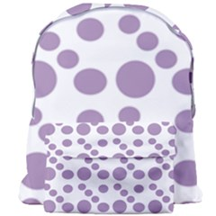 Violet Dots Giant Full Print Backpack