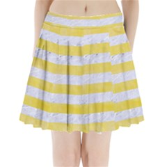 Stripes2white Marble & Yellow Watercolor Pleated Mini Skirt