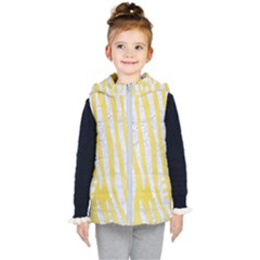 Skin4 White Marble & Yellow Watercolor (r) Kid s Puffer Vest