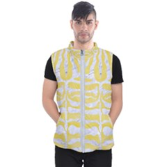 Skin2 White Marble & Yellow Watercolor Men s Puffer Vest