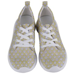 Scales2 White Marble & Yellow Watercolor (r)scales2 White Marble & Yellow Watercolor (r) Women s Lightweight Sports Shoes