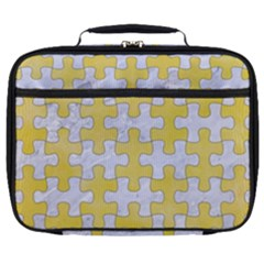 Puzzle1 White Marble & Yellow Watercolor Full Print Lunch Bag