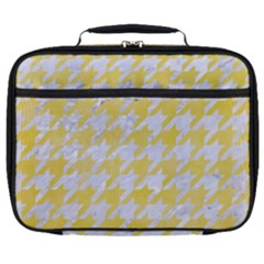 Houndstooth1 White Marble & Yellow Watercolor Full Print Lunch Bag