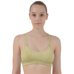 Hexagon1 White Marble & Yellow Watercolor Line Them Up Sports Bra