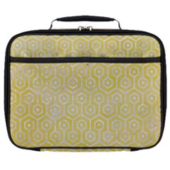 Hexagon1 White Marble & Yellow Watercolor Full Print Lunch Bag